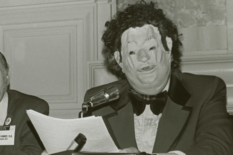 Doctor Fryer wearing a mask
