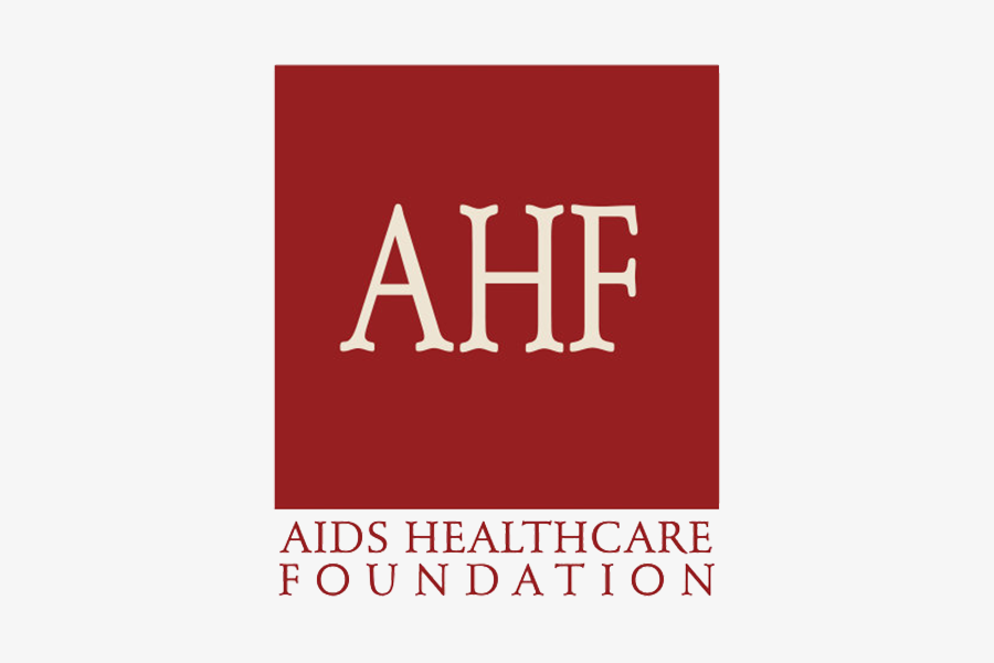 AIDS healthcare foundation text logo